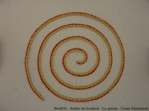 Brod'Or - Atelier de broderie - La spirale - Cours d'initiation