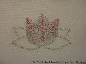 Brod'Or - Atelier de broderie - Le lotus - Cours d'initiation