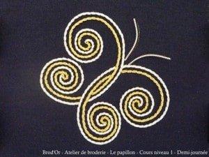 Brod'Or - Atelier de broderie - Le papillon - Cours niveau 1 - Demi-journee