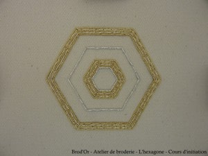 Brod'Or - Atelier de broderie - L'hexagone - Cours d'initiation